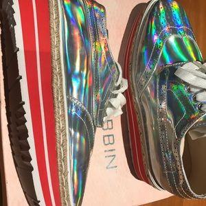 Cape Robbin Silver Multi Color Shoes